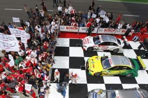 Einen Doppelsieg in der DTM Saison 2011 feierte Audi auf dem Lausitzring