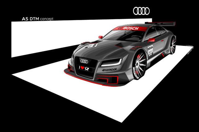 So könnte der Audi A5 DTM aussehen