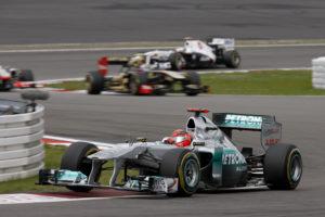 Michael Schumacher Platz 8 beim Formel 1 Heimspiel 2011 auf dem Nürburgring