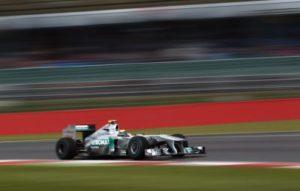 Mercedes GP im Freien Training Silverstone