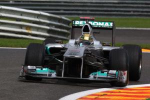 Sensationelle Aufholjagd von Michael Schumacher beim GP von Belgien