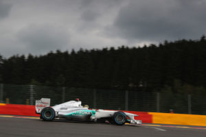 Michael Schumacher beim Qualifying in Spa