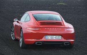 Heckansicht des Porsche 911 Carrera