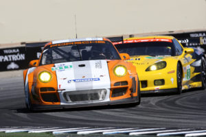 ALMS Laguna Seca-Erster Auftritt des Porsche 911 GT3 R Hybrid-Erster Sieg