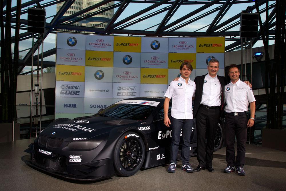 BMW M3 DTM mit Stammfahrern der DTM Saison 2012 Andy Priaulx und Augusto Farfus