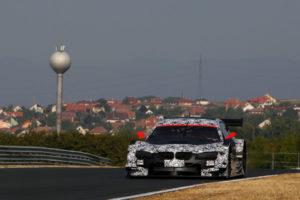 BMW M3 DTM Team RBM bei Testfahrten auf dem Hungaroring