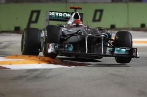 Michael Schumacher beim F 1 GP von Singapur 2011