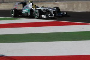 Formel 1 Monza- Nico Rosberg wurde in der ersten Schikane in einen Unfall verwicklet und schied aus