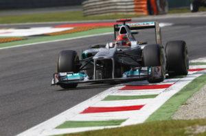Formel 1-Michael Schumacher fährt in Monza auf Platz 5