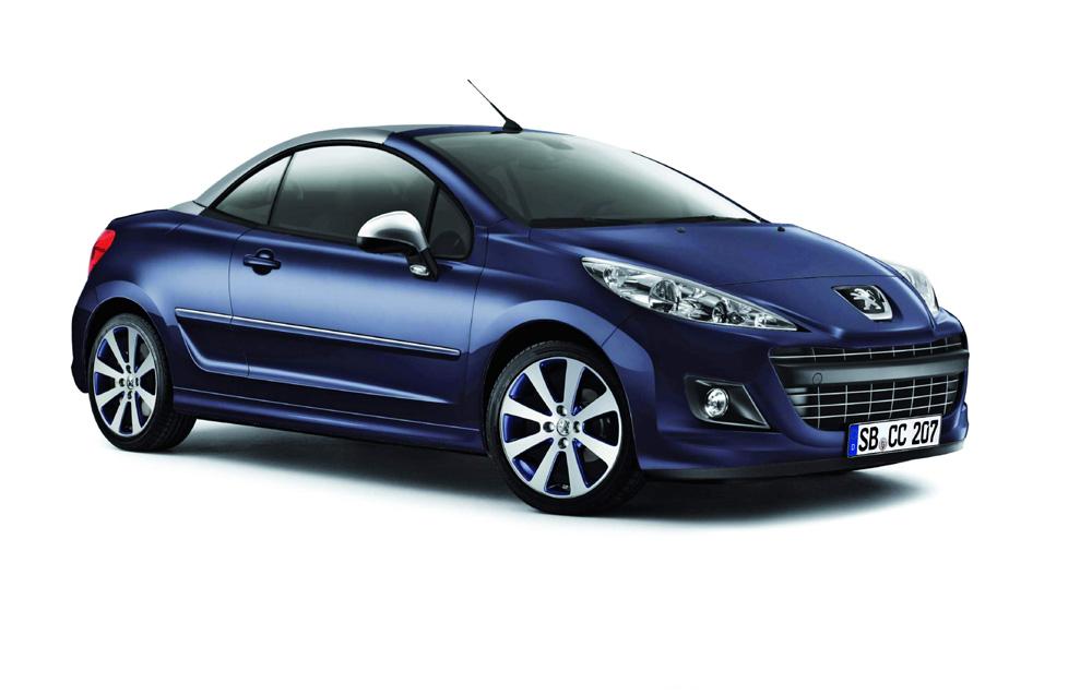 Peugeot 207 CC Limited Edition in Metallic Blau und Silber