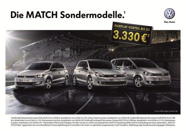 Neue VW Match Sondermodelle mit speziellen optischen Elementen