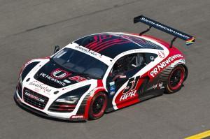 Audi R8 GRAND-AM APR Motorsport-Audi Legende Emanuele Pirro mit in der Fahrerbesetzung