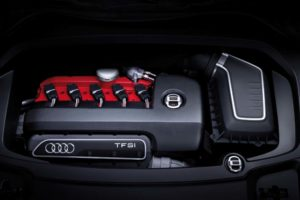 2.5 TFSI Fünfzylinder Motor des Audi Q3 Vail