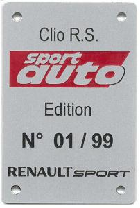Nur 99 Exemplare wird es von der sport auto Edition des Clio R.S geben