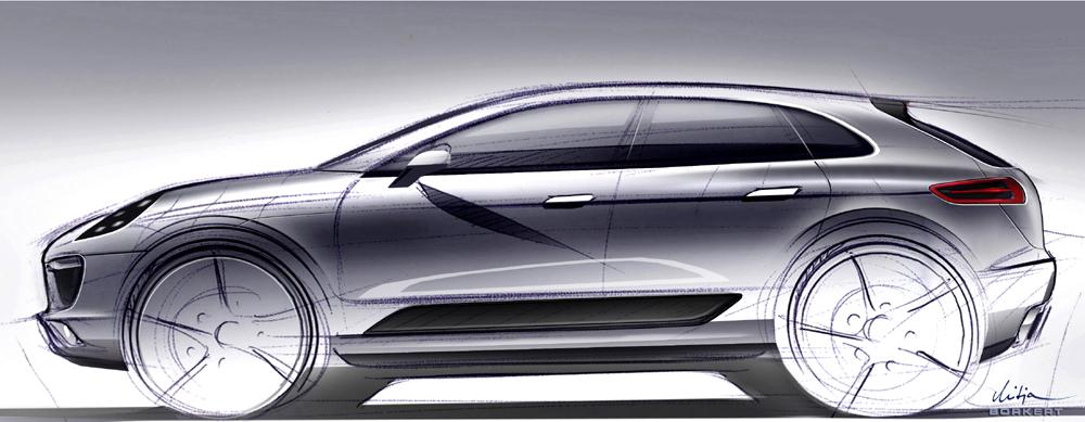 Studie Porsche Macan der neue sportliche SUV Geländewagen