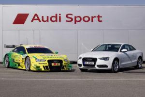 Audi A5 DTM und Serien A5 oder für die Audi DTM Piloten Dienstwagen vs Privat Kfz