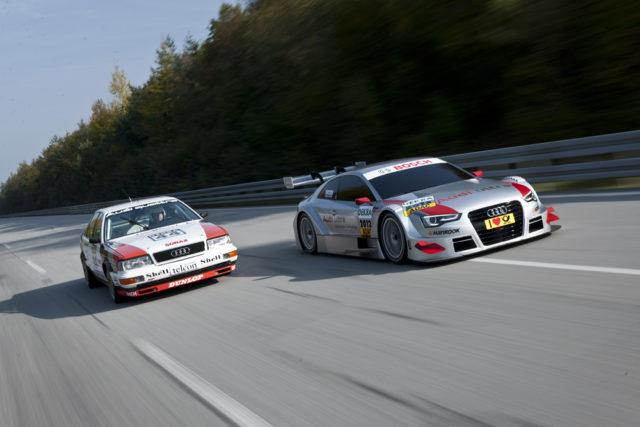 Audi V8 quattro DTM und Audi A5 DTM