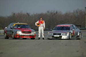 Audi V8 quattro DTM und Audi A4 DTM Fahrer Frank Biela gewann auf Anhieb den Titel mit dem V8 quattro DTM