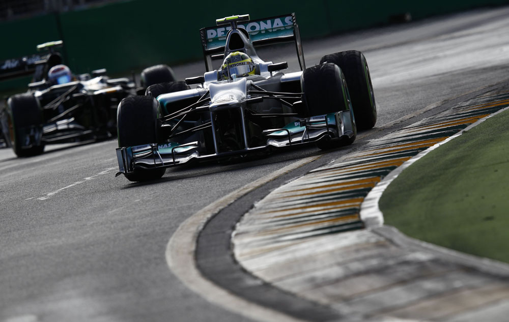 Nico Rosberg beendet den GP von Australien 2012 auf Platz 12