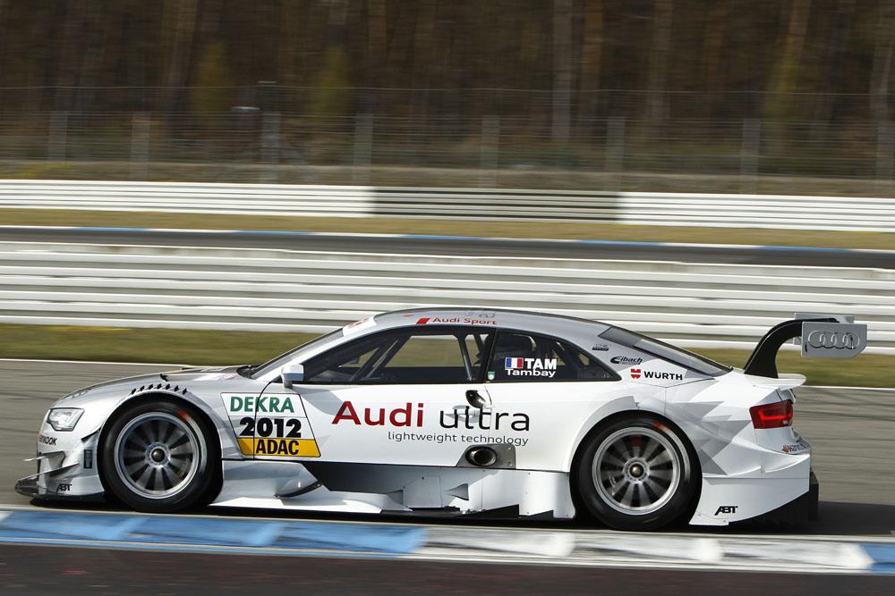 Audi A5 DTM Team Abt vor Rennpremiere in der DTM
