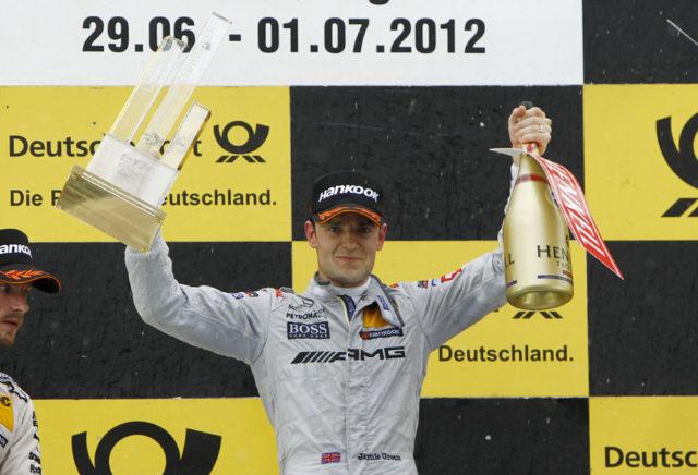 DTM Norisring 2012 Jamie Green gewinnt den 5.Lauf der DTM in der letzten Kurve