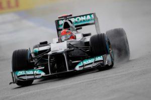 Michael Schumacher startet von Platz drei ins Rennen