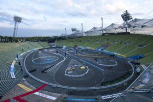 DTM Event 2012 München blick auf die Strecke im Olympiastadion