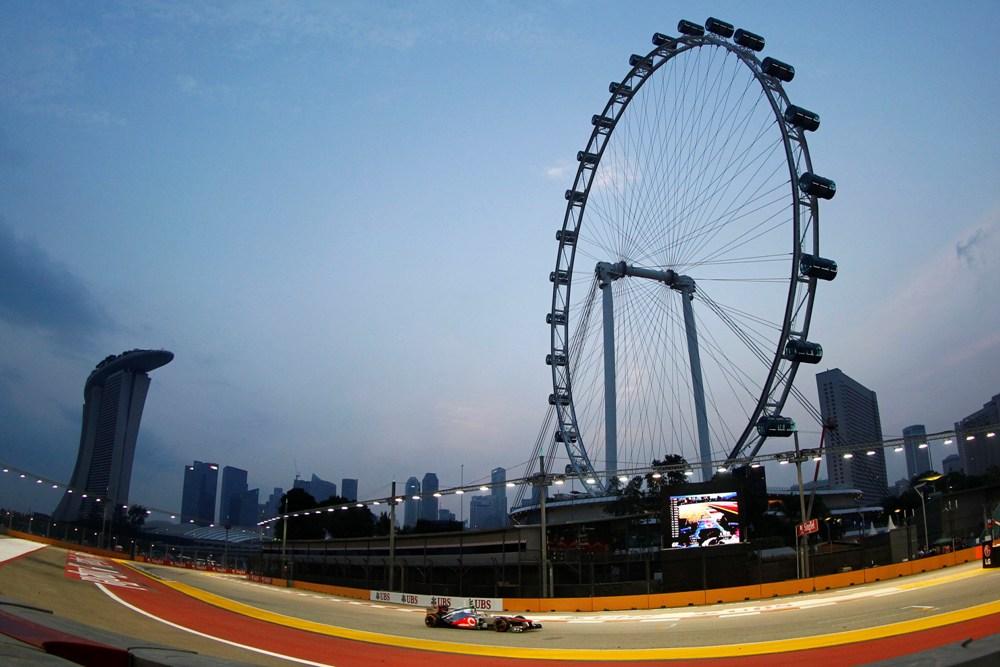 F1 Qualifying Singapur 2012 Startaufstellung