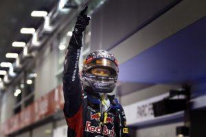 Sebastian Vettel holt die Pole Position