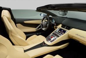 Lamborghini Aventador Roadster überarbeiteter Innenraum und Interieur