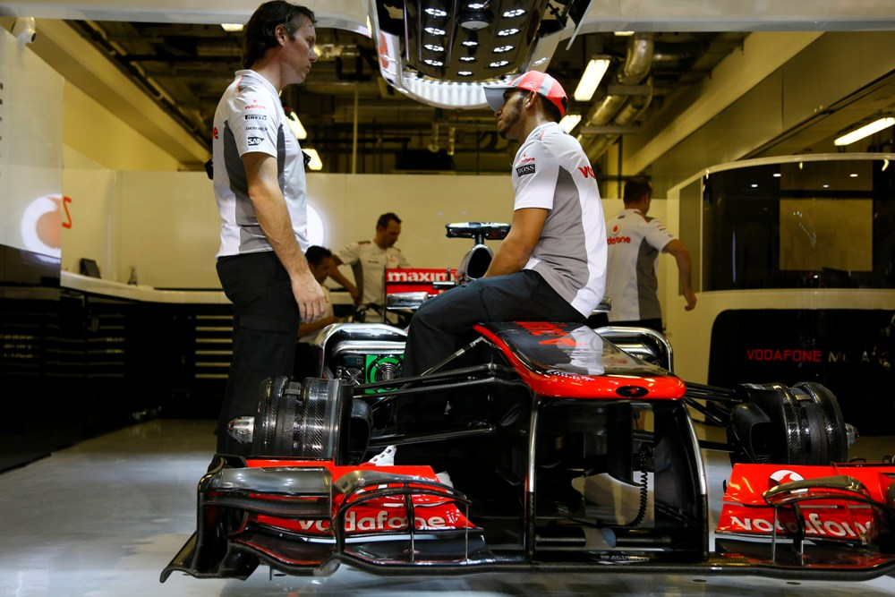 Lewis Hamilton Abu Dhabi 2012