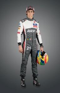 Esteban Gutierrez mit neuem Rennoverall und Helm