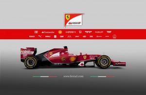 Ferrari F14-T Seitenansicht