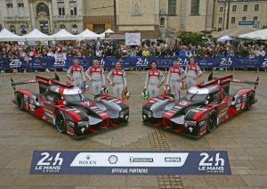 Audi R18 (2016) #7 (Audi Sport Team Joest), Marcel Fässler, André Lotterer, Benoît Tréluyer Audi R18 (2016) #8 (Audi Sport Team Joest), Lucas di Grassi, Loïc Duval, Oliver Jarvis