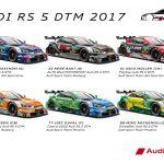 Audi RS 5 DTM 2017 und Fahrerpaarung DTM 2017