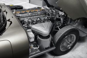 Motor eines restaurierten E-Type Reborn