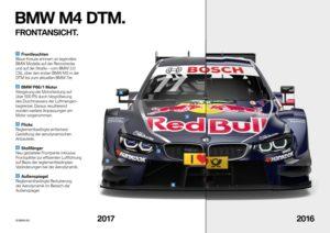 DTM 2017 BMW M4 Unterschied Front 2017 zu 2016