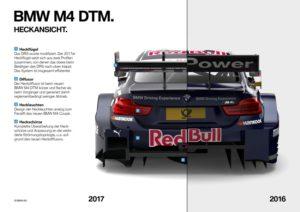 DTM 2017 BMW M4 Unterschied Heck 2017 zu 2016