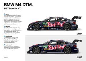 DTM 2017 BMW M4 Unterschied Seite 2017 zu 2016
