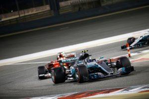 F1 GP Bahrain Valtteri Bottas vor Sebastian Vettel