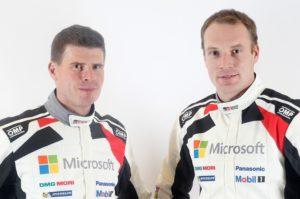 Toyota Gazoo Racing WRC   Miikka Anttila, Jari-Matti Latvala (v.l.n.r.)