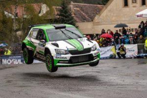 Überlegener Sieg bei der Rallye Šumava Klatovy: Jan Kopecký und Beifahrer Pavel Dresler im Skoda Fabia R5
