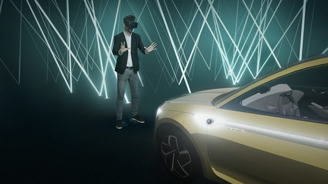 Dank Virtual-Reality-Technologie die Skoda VISION E in der digitalen Welt erkunden