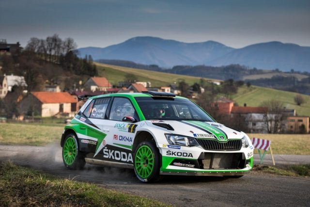 Skada Fabia R5 bei der Valasska Rally 2017