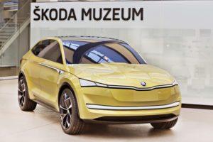 Designvorlage der Konzeptstudie VISION E im Skoda Museum