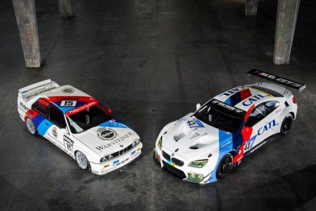 BMW M6 GT3 im historischem Design des legendären BMW E30 M3