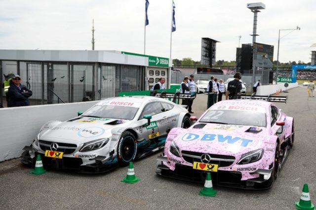 DTM, Hockenheim I. Mercedes-AMG Motorsport DTM Team, DTM, Lucas Auer, Mercedes-AMG C 63 DTM BWT Gary Paffett, Mercedes-AMG C 63 DTM Mercedes Me