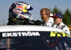 Rallycross Mattias Ekström (S) Toomas Heikkinen (FIN)