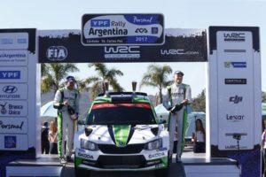 Skoda Fabia R5 WRC bei der Rallye Argentinien