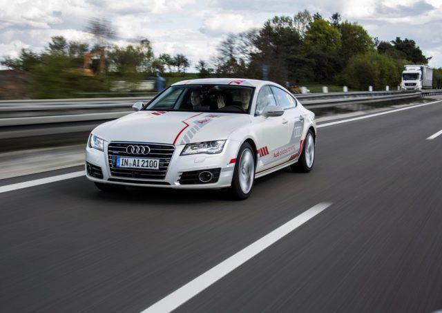 Audi A7 piloted driving concept auf der A9